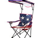 Quik Shade 160086 Adjustable Canopy Folding Camp Chair- US Flag Print