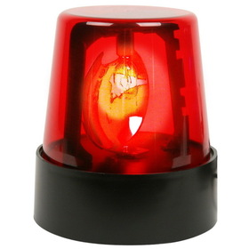 "Rhode Island Novelties 160416 7"" Red Police Beacon Light"