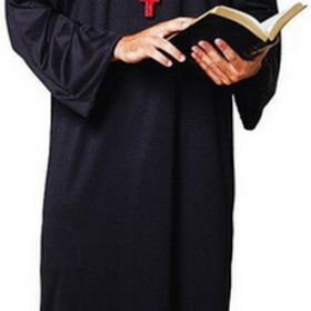 Paper Magic 6850670 Priest Robe Adult Costume, Display Size: One-Size