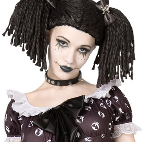 BuySeasons 8071 Gothic Rag Doll Wig, Display Size: One Size Fits Most Adults