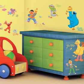 RMK1384SCS Sesame Street Peel and Stick Wall Decals