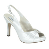 Touch Ups by Benjamin Walk Women's  Iris Shoes Satin White