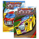 Bazic Products 12504-48 Jumbo Crazy Carzzz Coloring & Activity Books