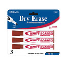 Bazic Products 1253-144 Red Chisel Tip Dry-Erase Markers (3/Pack)