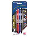 Bazic Products 17067-144 Frizz Assorted Color Erasable Gel Retractable Pen With Grip (3/Pack)