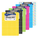 Bazic Products 1812-48 Standard Size Polka Dot Paperboard Clipboard W/ Low Profile Clip