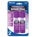 Bazic Products 2022-12 21G / 0.7 Oz. Large Washable Purple Glue Stick (2/Pack)