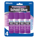 Bazic Products 2023-12 8G / 0.28 Oz. Small Washable Purple Glue Stick (4/Pack)