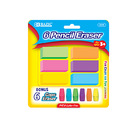 Bazic Products 2225-72 Neon Eraser Sets (12/Pack)