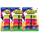 Bazic Products 2323-24 Mini Desk Style Fluorescent Highlighters (4/Pack)