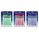 Bazic Products 3010-72 12-Digit Dual Power Fancy Color Desktop Calculator