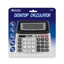 Bazic Products 3012-12 12-Digit Dual Power Desktop Calculator W/ Adjustable Display