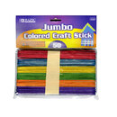 Bazic Products 3434-72 Jumbo Colored Craft Stick (50/Pack)