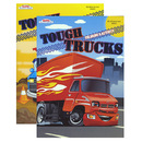 Bazic Products 48501-48 Tough Trucks Foil & Embossed Coloring & Activity Book