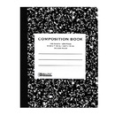 Bazic Products 5050-48 C/R 100 Ct. Black Marble Composition Book