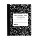 Bazic Products 5051-48 Unruled 100 Ct. Black Marble Composition Book