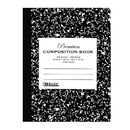 Bazic Products 5090-48 W/R 100 Ct. Premium Black Marble Composition Book