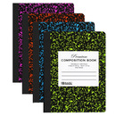 Bazic Products 5092-48 W/R 100 Ct Premium Assorted Color Marble Composition Book