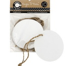 Canvas TAG1072 Tags & Ties Round - White (10)