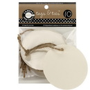 Canvas TAG1073 Tags & Ties Round - Ivory (10)