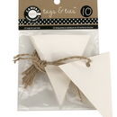 Canvas TAG1081 Tags & Ties Triangle - Ivory (10)