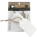 Canvas TAG1890 Tags & Ties Scallop - White (10)