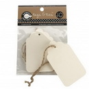 Canvas TAG1891 Tags & Ties Scallop - Ivory (10)