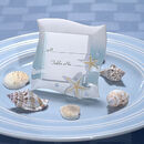 Cassiani Collection 5550 2X3 Place Card Frame Beach Theme in Blue and White Colors