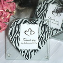 Cassiani Collection 807 Zebra heart print photo coaster
