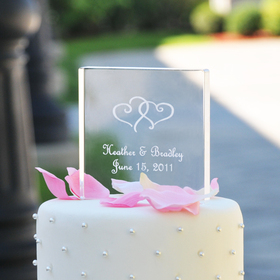 Cathy's Concepts 1305 Personalized Acrylic Square Cake Topper