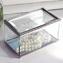 Cathy's Concepts 1881 Engraved Beveled Glass Jewelry Box
