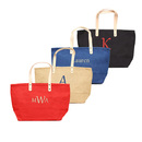 Cathy's Concepts 2133K Black Personalized Nantucket Jute Tote