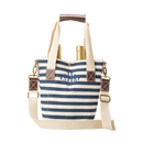 Cathy's Concepts 2549 Personalized Striped Canvas Wine Tote