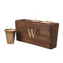 Cathy's Concepts 3955 Personalized Rustic Wood Sugar Mold Candle Holder
