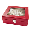 Cathy's Concepts 4028 Personalized Red Leatherette Jewelry Box