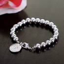 Cathy's Concepts B9269S Personalized Silver Bead Bracelet