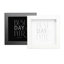 Cathy's Concepts Personalized Best Day Ever Wedding Wishes Keepsake Shadow Box