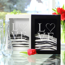Cathy's Concepts LD-PS3917 Black Modern Love Sand Ceremony Shadow Box Set