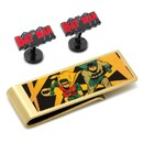 DC Comics DC-VBAT2-CM Vintage Batman Comics Cufflinks and Money Clip Gift Set