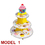Aspire Paper Cupcake Stand Kit, 3-Tier Cupcake Desert Tower Stand, Party Cupcake Holder - 10 Models, Party Supplies
