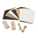 Aspire 20 PCS Wall Display Photo Frames for 7 Inch Pictures with Mini Clothespins and Rope