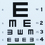 "Illiterate Eye Chart 22""x11"""