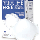 N95 High Efficiency Molded Face Mask, Bx/20