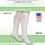 Complete Medical Supplies Anti-Embolism Stockings, Xl/Lng 15-20mmHg, Below Knee, Open Toe