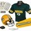 Green Bay Packers Football Deluxe Uniform Set - Size Small