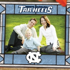 North Carolina Tar Heels Art-Glass Horizontal Picture Frame