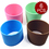 "Aspire Eco Sleeve Insulated Sleeve Assorted Colors, 6 Pcs, 2-10/16""Dia"