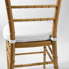 "Commercial Seating Products CU-100 WH Chiavari 2"" Double Tubing Cushion, Velcro tab wrap around - White (Price/Each)"