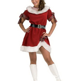 RUBIES COSTUME 25521R Ms. Santa Adult Costume