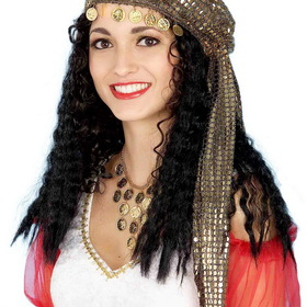 FORUM NOVELTIES 57575F Women's Mystic Fortune Teller Gypsy Wig